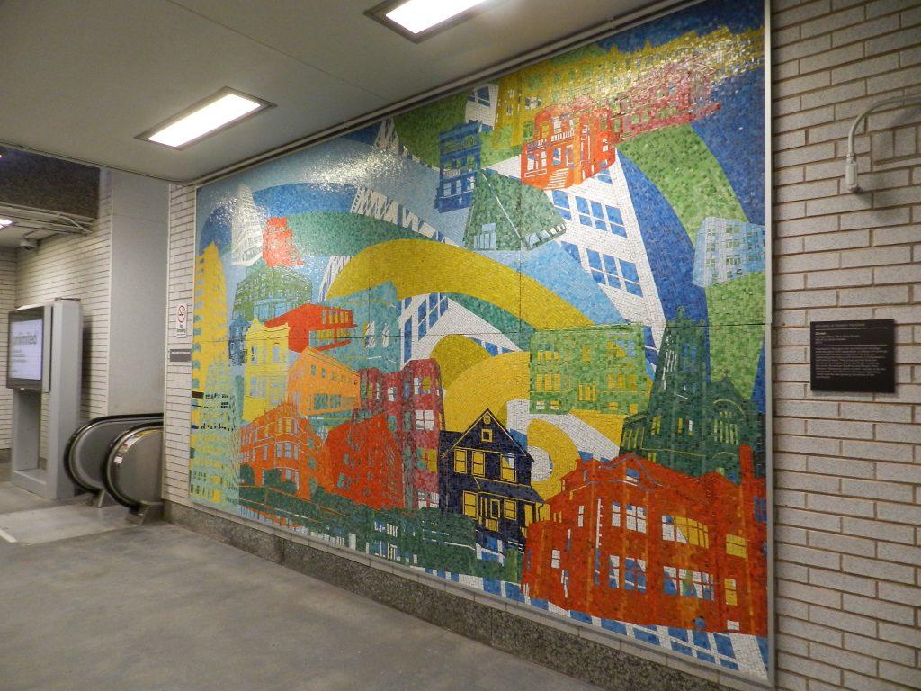 Mosaics in Chicago: Street, 2014, Kyungmi Shin, Granville Street metro.