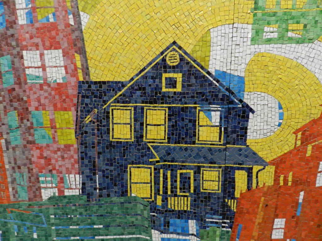Mosaics in Chicago: Street detail, 2014, Kyungmi Shin, Granville Street metro.
