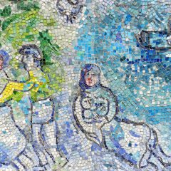 Marc Chagall's Four Season's detail of mother and child.