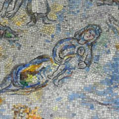 Mosaics in Chicago - Marc Chagall mosaic of woman resting with a child.