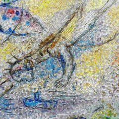 Marc Chagall's Four Seasons mosaic_ American dream.