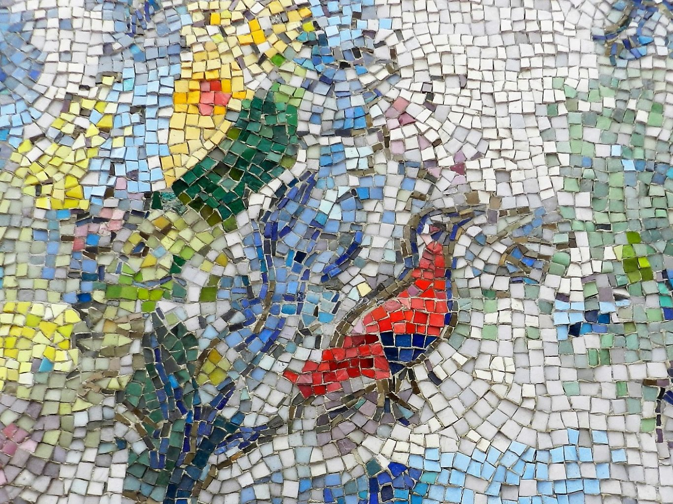 Marc Chagall's Four Seasons mosaic_ red bird.