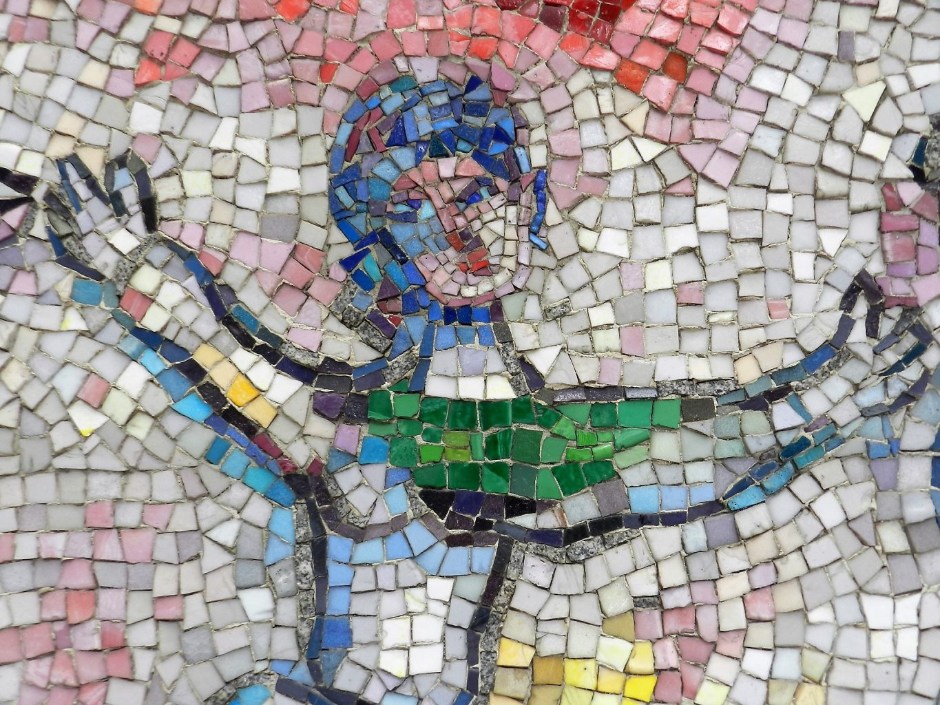 Marc Chagall's Four Seasons mosaic_ dancer detail.