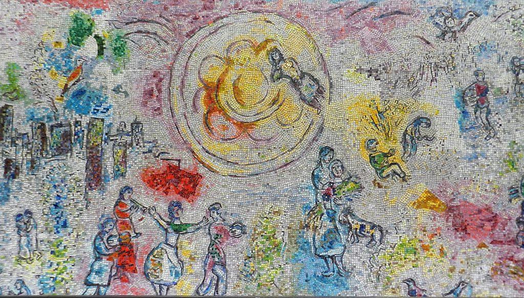 Marc Chagall's Four Seasons mosaic_ summer