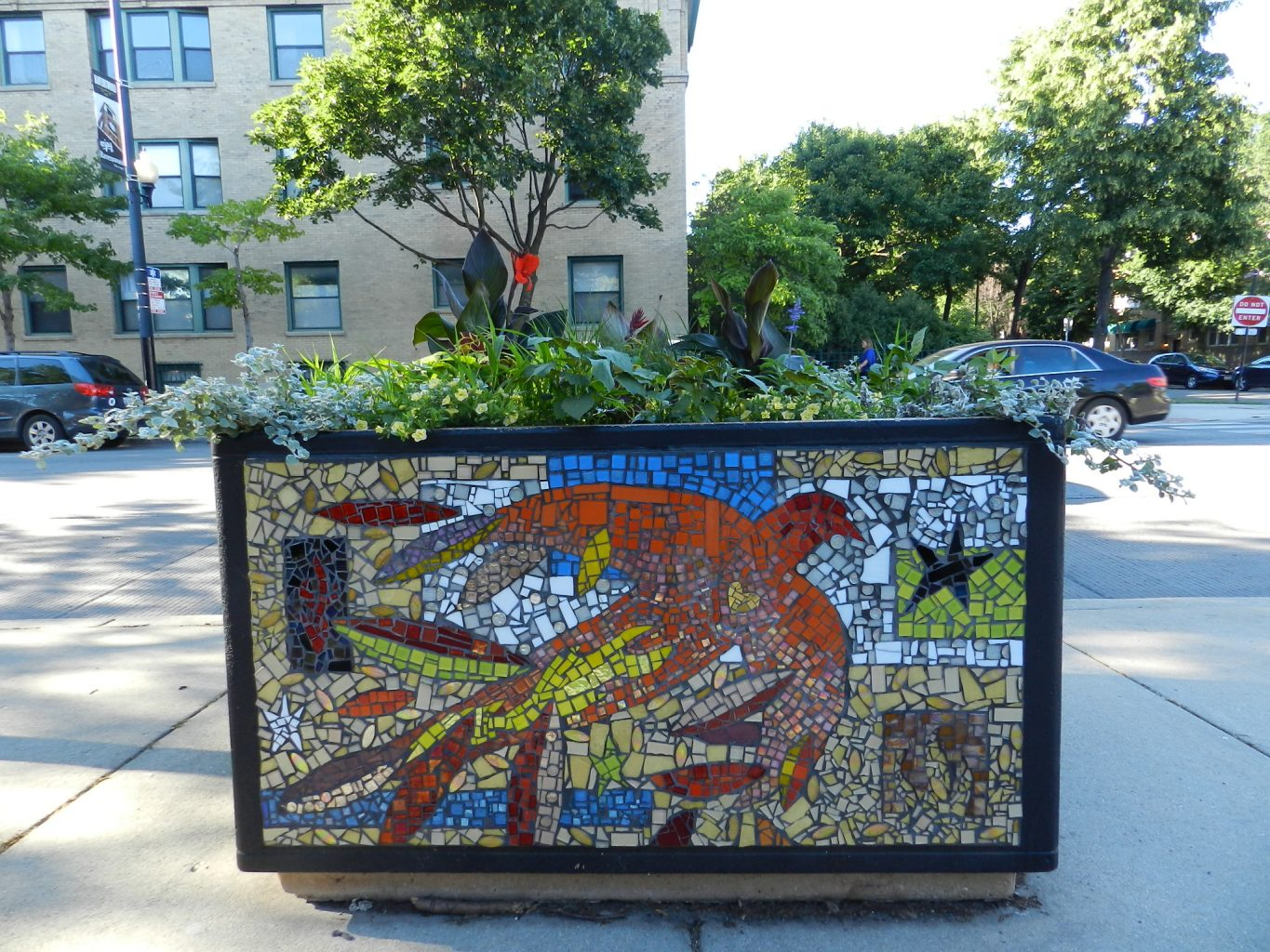 Mosaics in Chicago_Ravenswood Elementary School mosaics.