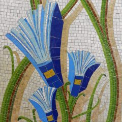 Mosaics in Chicago_Bachor's Thrive mosaic, Thorndale station, book detail.