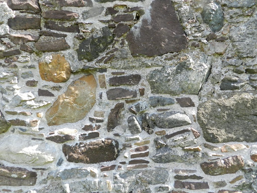 Ardvrech Castle wall, Sutherland, Scotland. 16th century