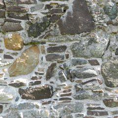 Ardvrech Castle wall, Sutherland, Scotland. 16th century