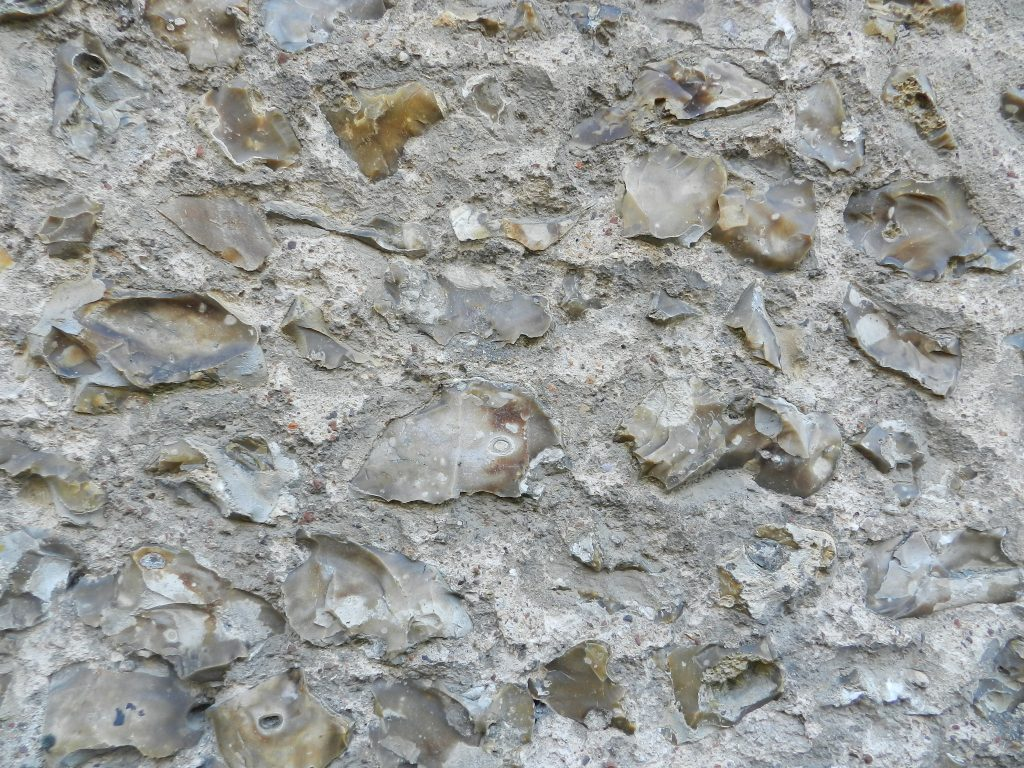 Wall with flint, Chartres, France.