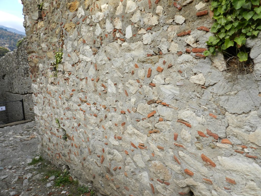 Byzantine wall, Mystras, Greece. 13th century.