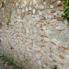 Byzantine wall, Mystras, Greece. 13th century.