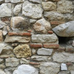 Monastery wall, Daphni, near Athens. 11th century