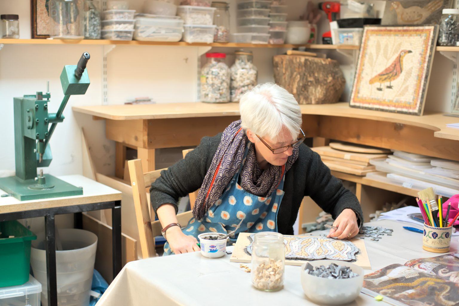 Helen Miles in her Edinburgh studio.