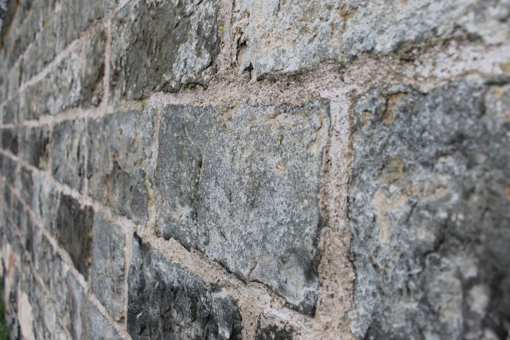 Edinburgh wall, detail.