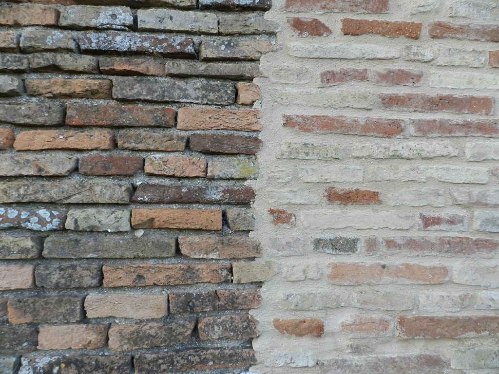 Half pointed wall, Italy.