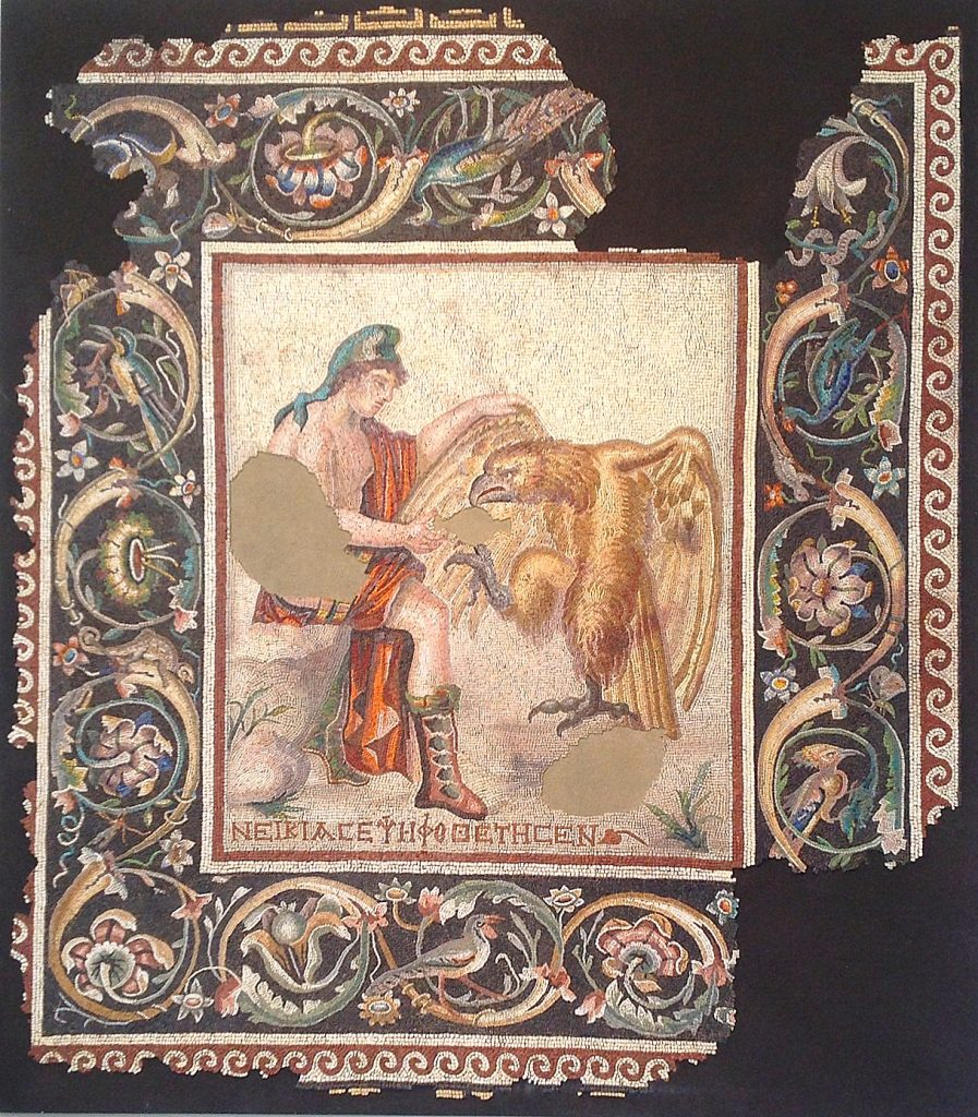 Zeus and Ganymede mosaic