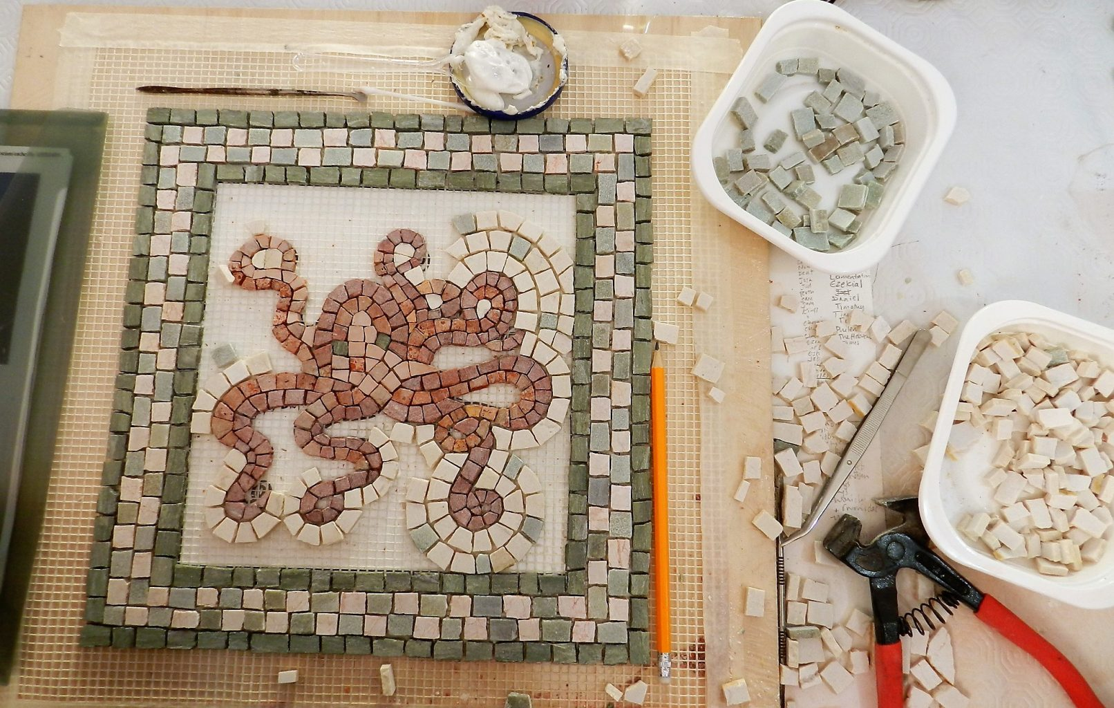 mosaic course in Greece