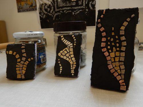 tile adhesive method practice pieces
