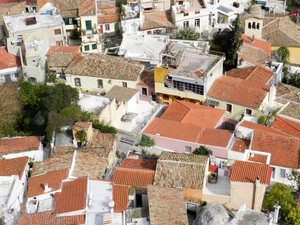 rooftops, rhodes