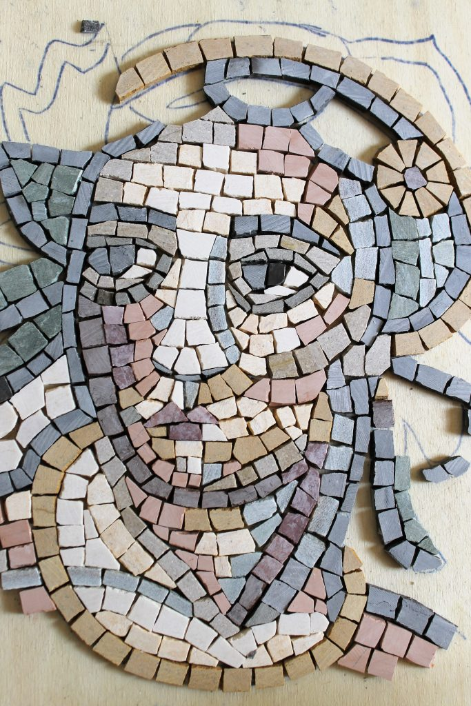 mosaic face work in progress