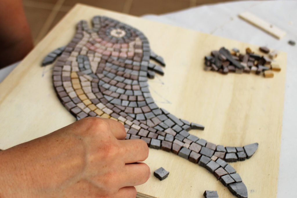 mosaic fish, work in progress
