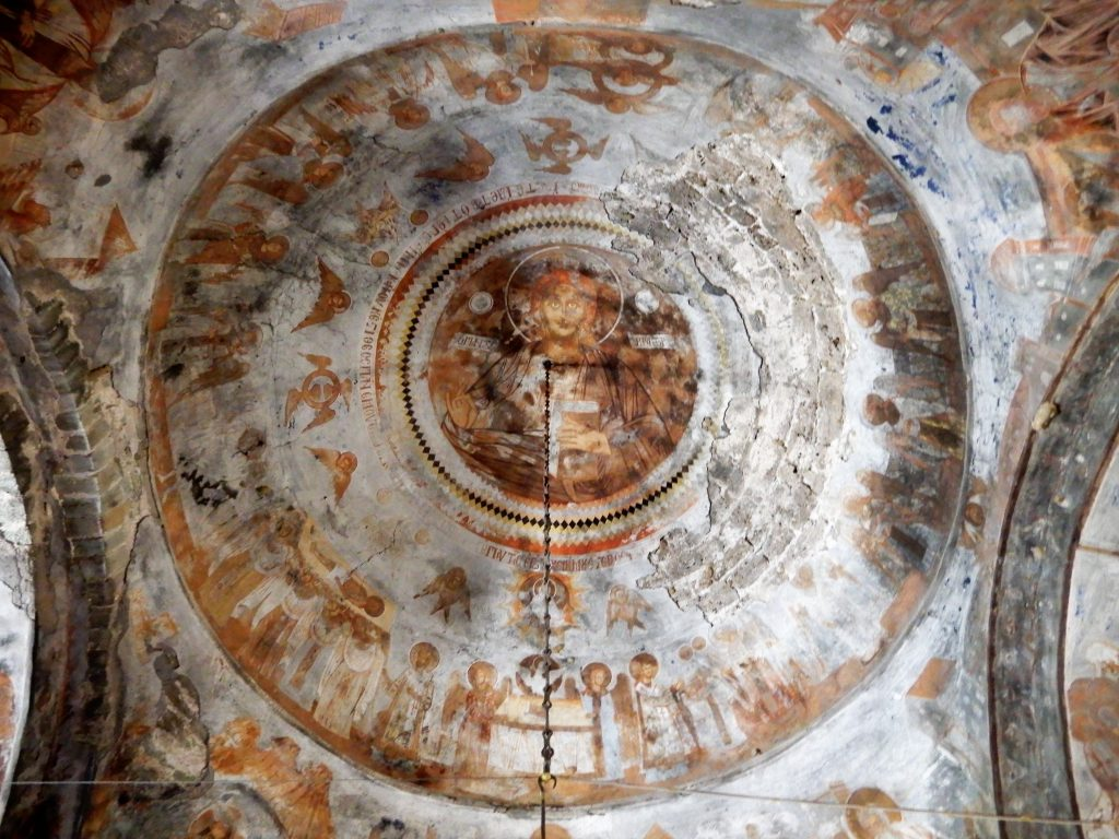 ceiling fresco in Greek monastery