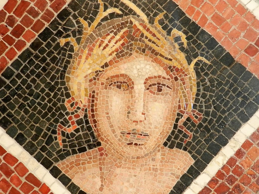 mosaic personification of Autumn.