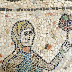 Muslim woman. Mosaics of San Giovanni Evangelista, Ravenna