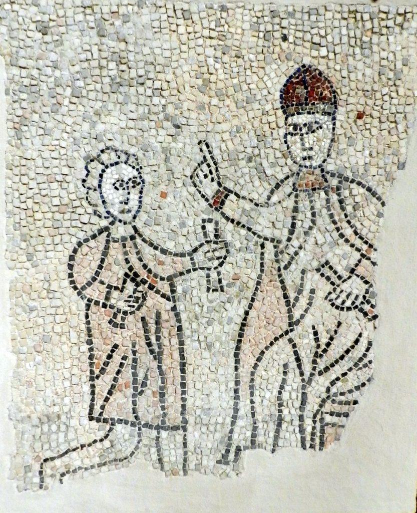 Pope Innocent III. Mosaics of San Giovanni Evangelista, Ravenna.