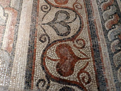 Byzantine Museum, Thessaloniki, Greece. Mosaic fixing, finishing and ideas.