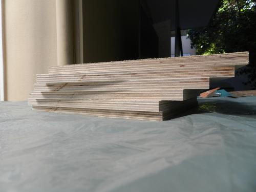 MDF board, freshly cut and ready for prep.