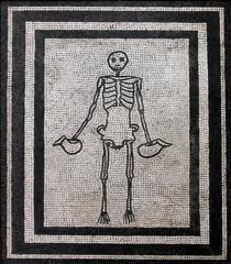 Life and death in Pompeii and Herculaneum: mosaic skeleton