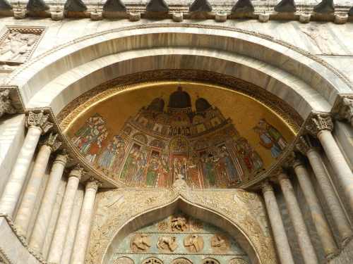 Outside St. Mark's Basilica, Venice