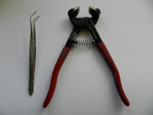 Mosaic tools - tweezers and nippers