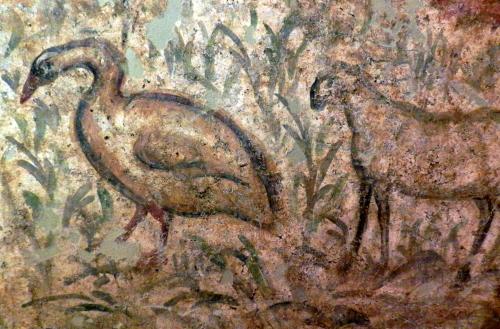 Goose and lamb, Early Christian tomb, Byzantine Museum, Thessaloniki.