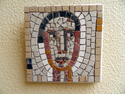 A small mosaic head