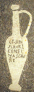 Fish sauce mosaic2, House of Aulus Umbricius Scaurus, Pompeii
