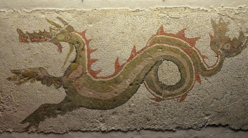 odd mosaics. casa del drago, kaulonia. via j. martin