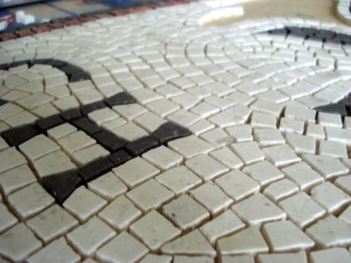 The mosaic making process: up close