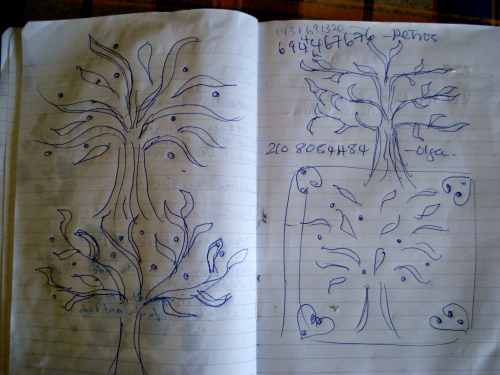 The mosaic making process: sketches in my kitchen diary