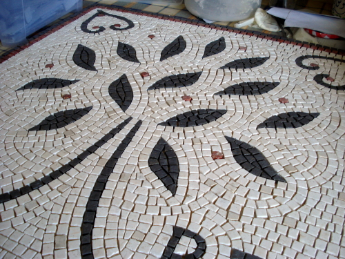 The mosaic making process: pre-grouting