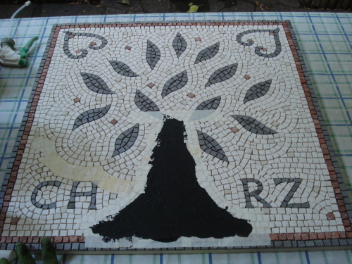 The mosaic making process: grouting in stages