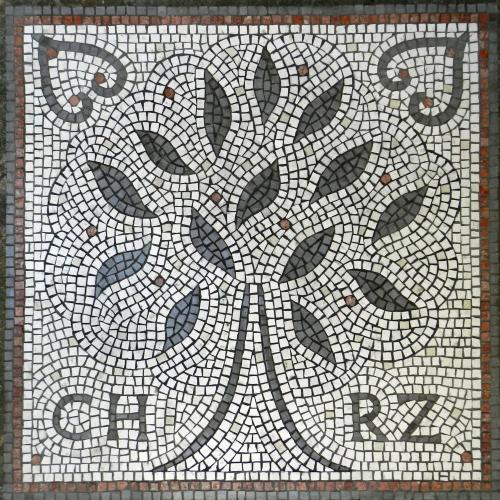 Wedding mosaic. Photo: Helen Miles Mosaics