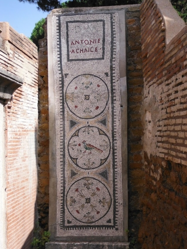 Mosaic at Isola Sacra. Tomb marker. classicswithMrsB