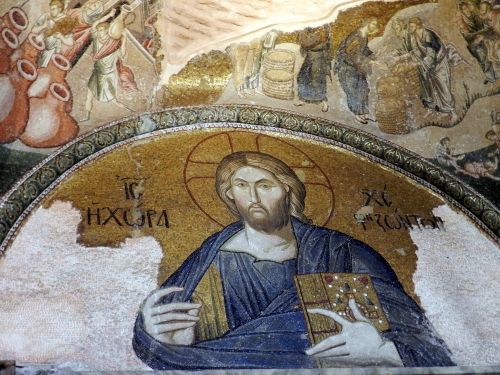 Christ, Church of St. Saviour in Chora, Istanbul. Photo: Helen Miles Mosaics