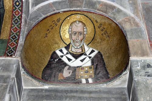 Saint Gregory of Nyssa, Osios Loukas. Photo: Helen Miles Mosaics