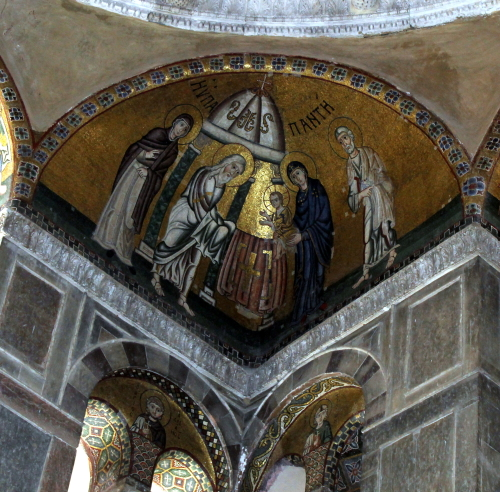 Mosaic of Presentation in the Temple. Osios Loukas. Photo: Helen Miles Mosaics