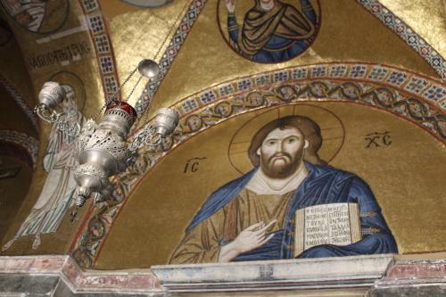 Mosaic of Christ, Osios Loukas. Photo: Helen Miles Mosaics
