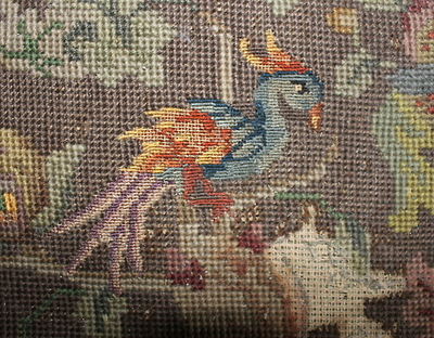 Needle point cushion 1. Photo: Helen Miles Mosaics