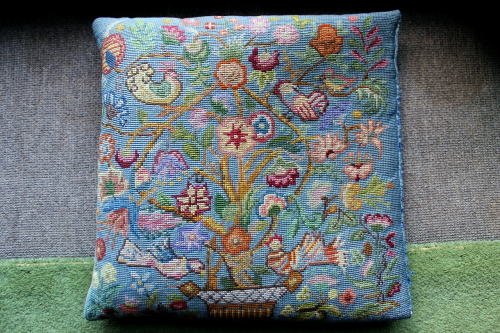 Needle point cushion, 3. Photo: Helen Miles Mosaics